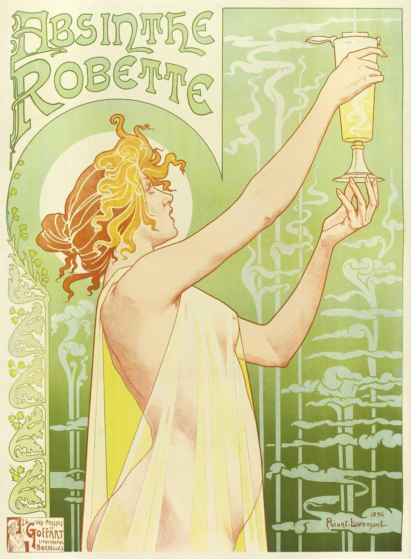 Nouveau Style Wine Art Style Art Nouveau