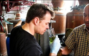Lucid creator Ted Breaux examining absinthe