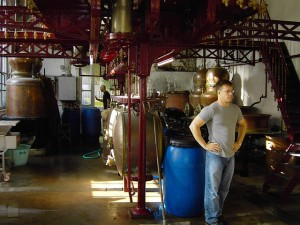 Lucid creator Ted Breaux overseeing Lucid production at Combier distillery in Saumur, France.