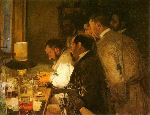 doctor's laboratory by Joaquin Sorolla Bastida