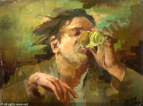 Le buveur d'absinthe, Jean d'ESPARBÈS (1898-1968)