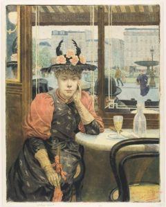 Le buveur d'absinthe, Albert Emmanuel Bertrand, (1890)