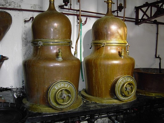 Lucid Absinthe is made in these Combier Distillery alambics
