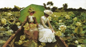 Charles Courtney Curran (1861-1942)  Lotus Lilies