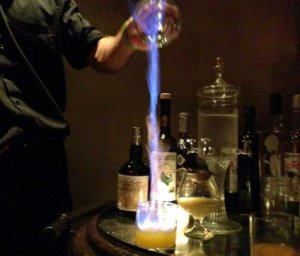 flaming absinthe
