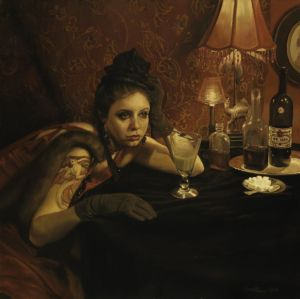 %22Absinthe Drinker and the Hostile Silence%22 by Pamela Wilson (2011)