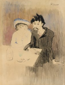 %22L'Absinthe, le poete Cornuty%22 by Pablo Picasso (1902-03)