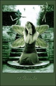 Absinthe green fairy dreaming