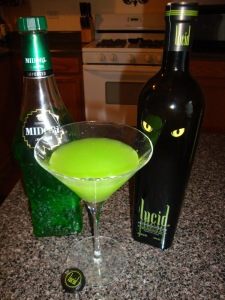 lucid absinthe and midori