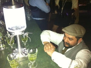 hypnotized by the absinthe drip