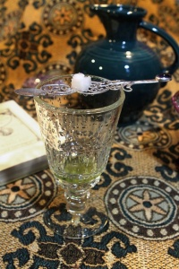 absinthe with fancy spoon