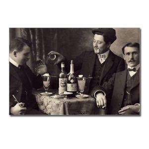 three_absinthe_drinkers_postcards_package_of_8