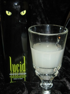 lucid absinthe louched and delicious